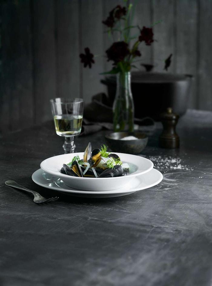 Sancerre pastatallerken dyp hvit, 26 cm