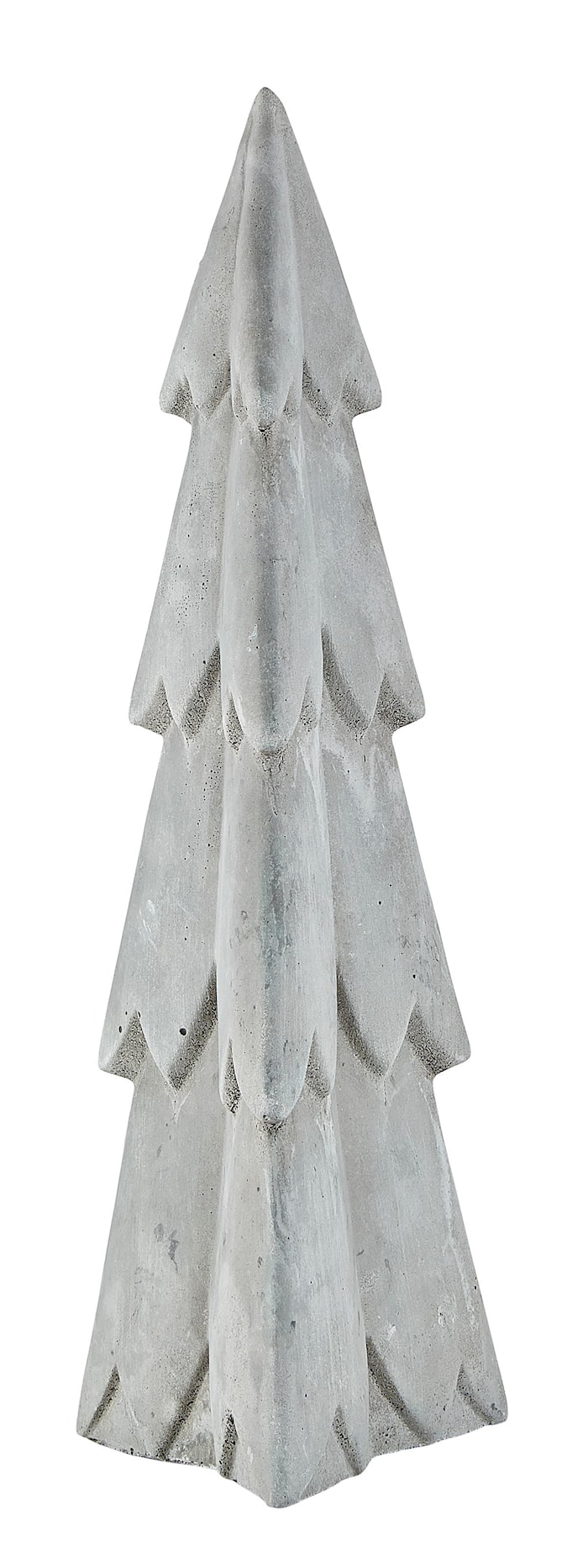 Figur - Træ - Cement - Grå - H 32,5cm - L 10,5cm - B 9,5cm - Stk.