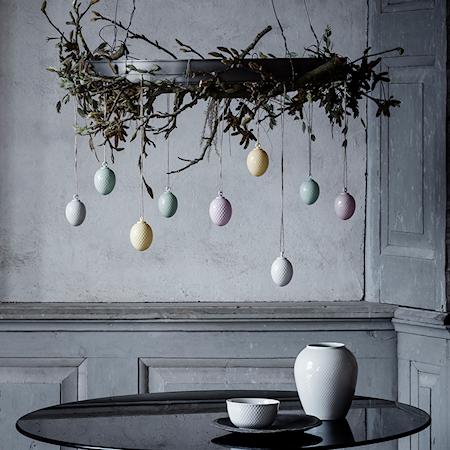 Rhombe Påskevedhæng Lavendel Porcelæn 7,5 cm