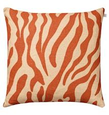 Zebra  Kudde Linne Orange 50x50 cm