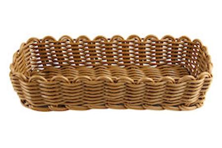 Bestickskorg 26,5x10x6cm, brun