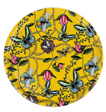 Nadja Wedin Design Bricka 65 cm Bugs & Butterflies Gul