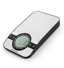 Profile vægt med timer Rektangulær Sølv
