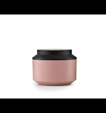 Geo Jar with Lid Pink / Black Ø 10 cm
