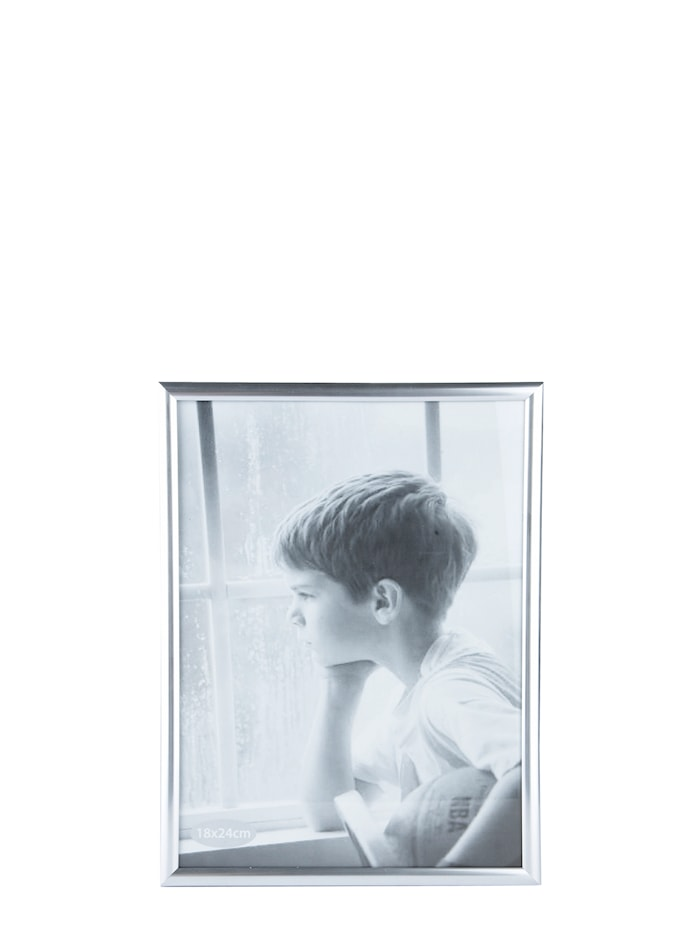 Fotoramme - PP - Glas - Sølv - L 24,0cm - B 18,0cm - Stk.