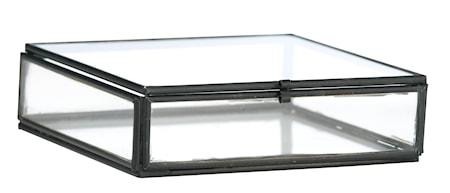 Kvadratiskt skrin 10,5x10,5x3,5 cm - Sort