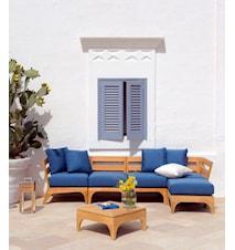 Village corner sofa Inklusive dynor dove grey