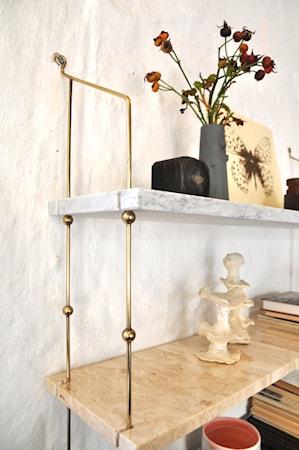 Morse shelve hylle - Carrara/Sand/Black/Brass