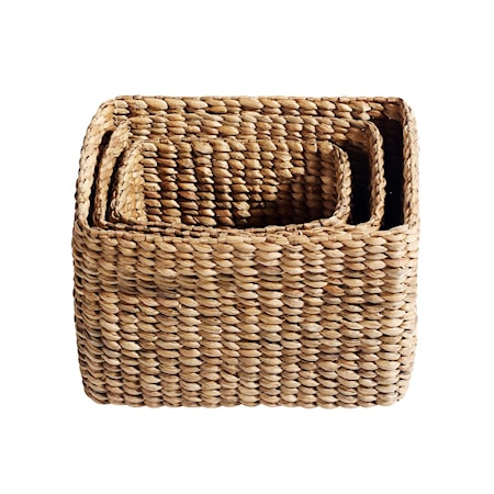 Korg Keep it all 3 st Natur Vattenhyacinth 40x28x30 cm