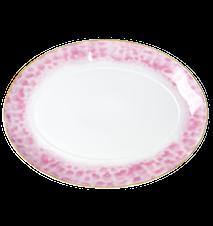 Glaze Print Tarjoiluvati 35x25 cm Posliini Vaaleanpunainen