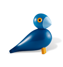 Sångfågel Kay blå