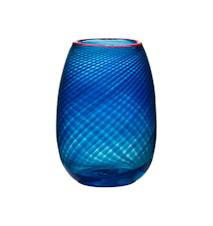 Red Rim Vase 24,5 cm