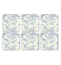 Morris Glasbrikker Willow Bough Blå 6-pak