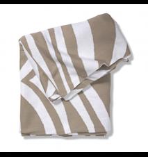 Pläd Zebra Simply Taupe 130x170 cm