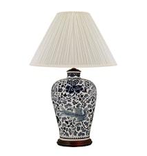 Lampfot, 40 cm, blåvit, pioner