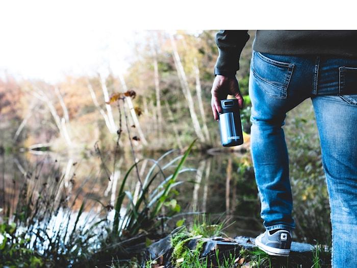 Termoflaske Etna 300 ml Blue Steel Rustfrit stål