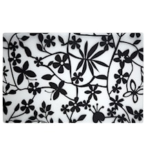 Coaster Flowers Black Transparent 44 x 28.5 cm