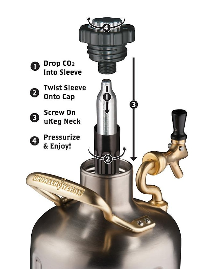 Öltapp - Ukeg Pro Koppar 1,9L