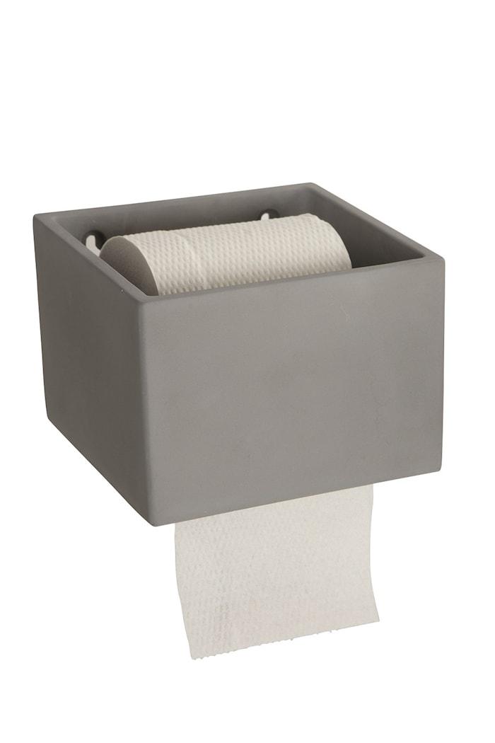 Toalettpappershållare Cement 10 cm Grå