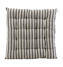 Stolpute Stripete Svart/Grå 50x50 cm