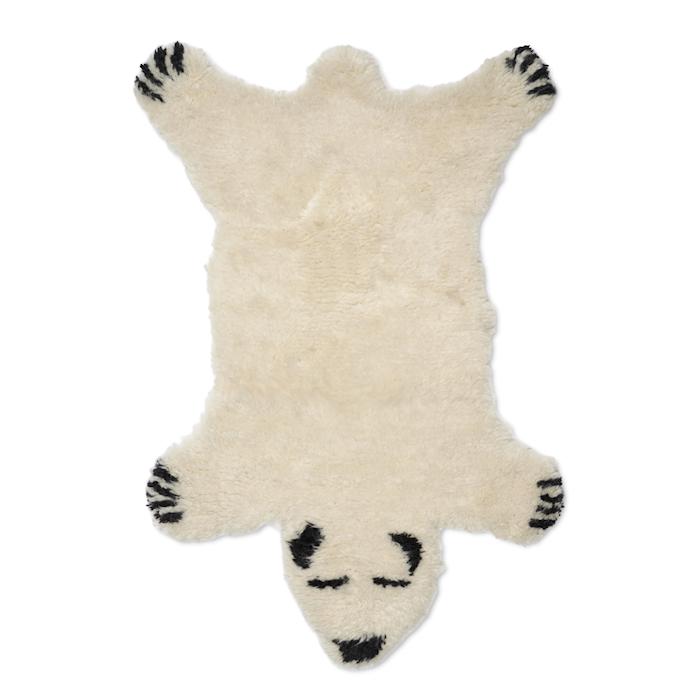 Djurmatta Fluffy Bear Vit 60x90 cm