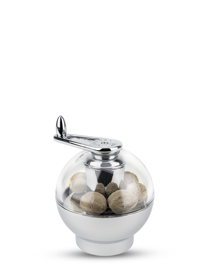 Ternate Muskatkvern Krom/Akryl 9 cm