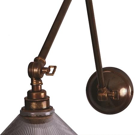 Rebel adjustable poster vägglampa – Antique brass