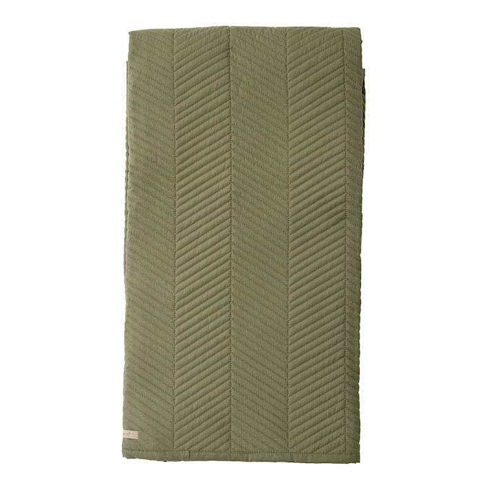 Överkast Stripe - Grön