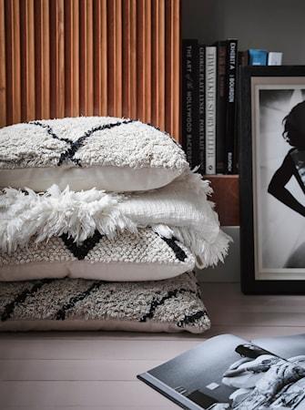 Kissen Baumwolle Zickzack Schwarz / Weiß 40x60 cm