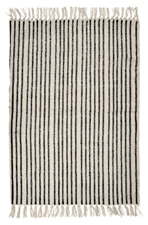 Teppe Stipes striper 60x90 cm - Svart