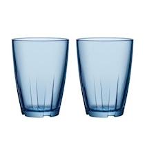 Bruk Blå Dricksglas Stor 2-pack
