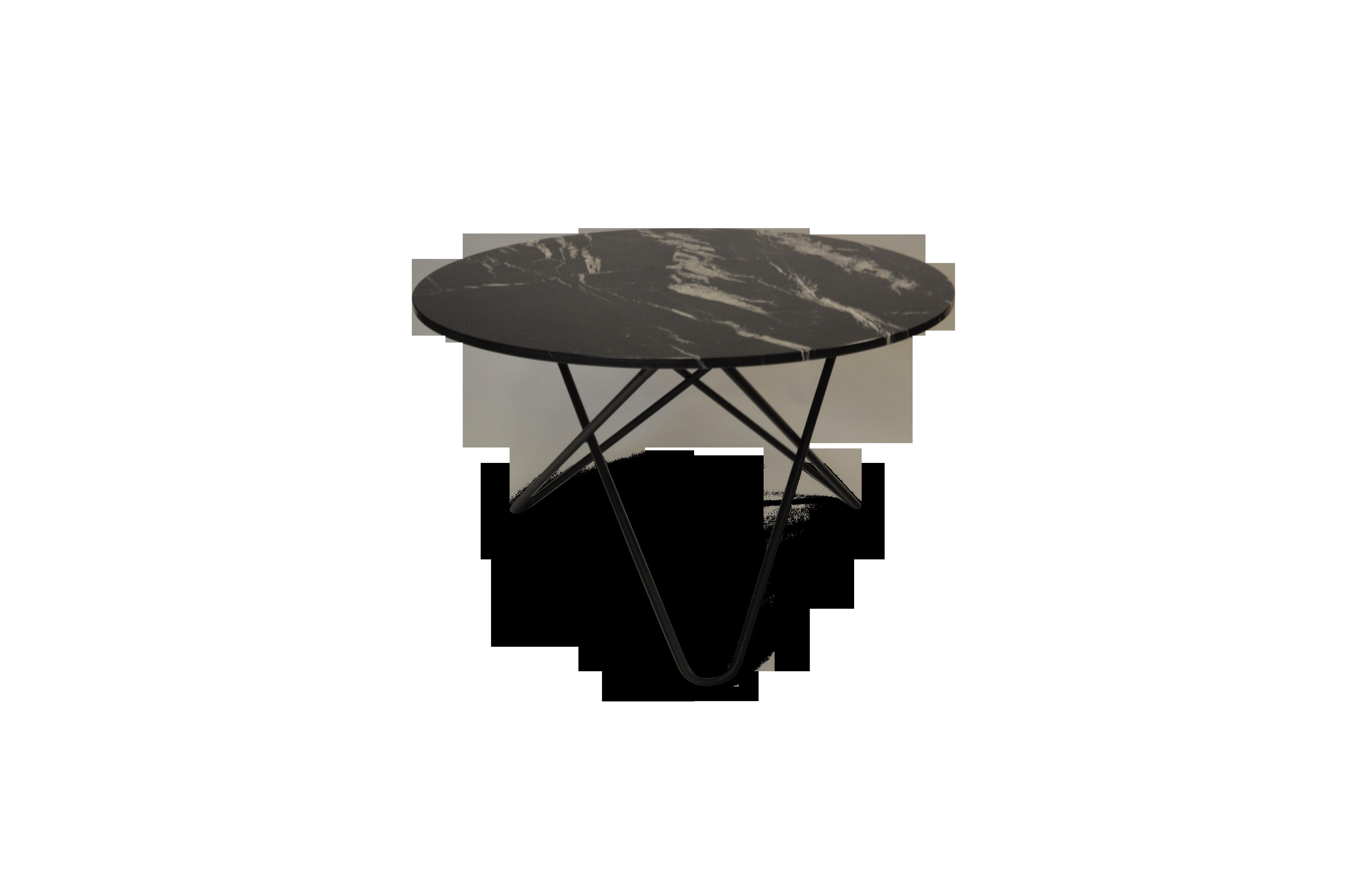 Kjøp Big O Spisebord MessingSvart Marmor Ø120   KitchenTime