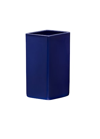 Ruutu Vase Keramik Mørkeblå 18 cm