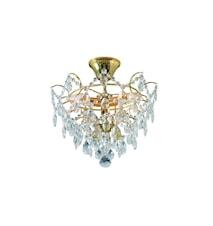 Rosendal Plafond Kristall & Guld