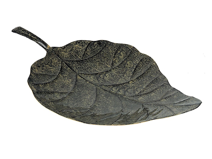 Fat, handmålad plåt , 47 cm, hårdlackat, mörkgrönt