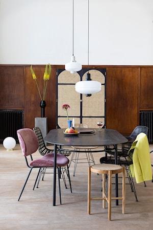 Spisebord Oval Svart