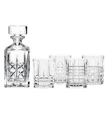 Highland Whiskeykaraffel og 4 stk glass
