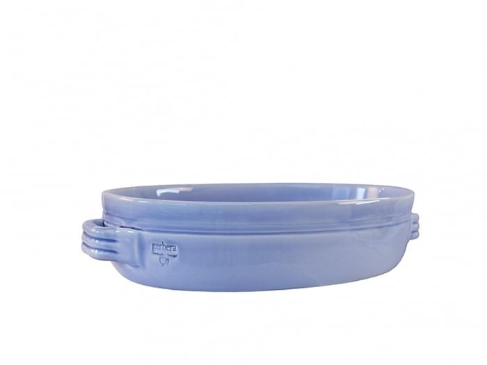 Toscana Gratängform 38x26 cm Keramik Ljusblå