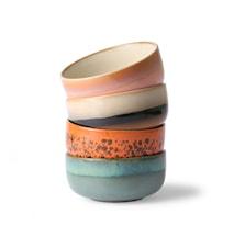 Ceramic 70's Dessertskål 4 stk