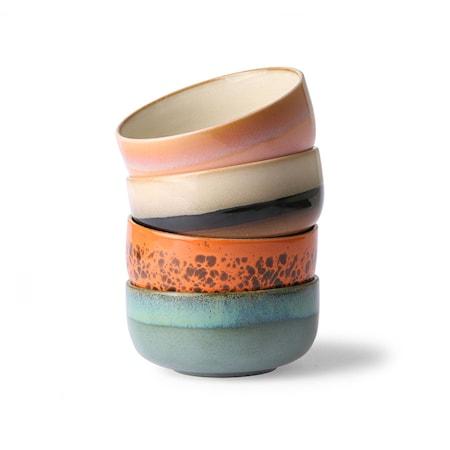 Ceramic 70's Dessertskål 4 st
