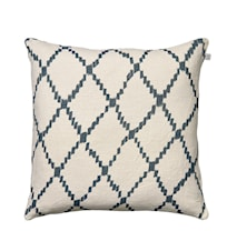 Ikat Kerela Pillowcase Linen Blue 50x50cm
