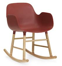 Form rocking chair stol med armlene eik - Red