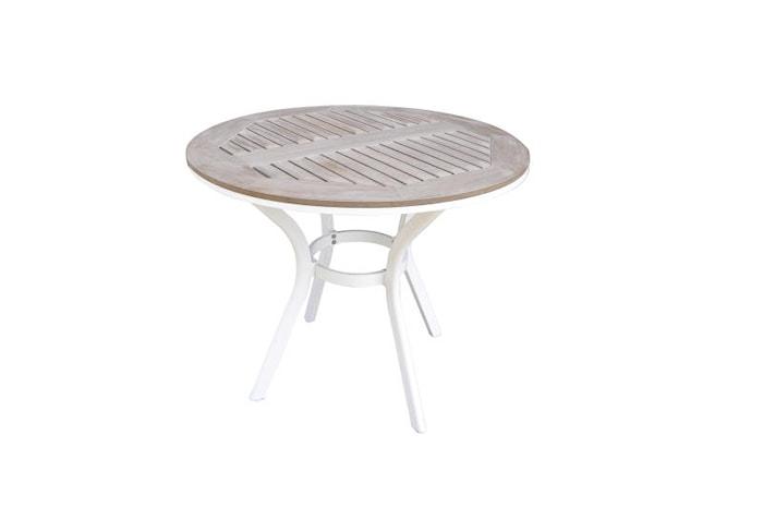 Alfa Trädgårdsbord ø90 cm Vit
