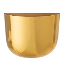 Wall Flowerpot, Brass, Metal