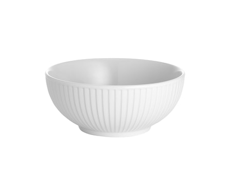 Plissé skål hvid, 60 cl Ø 15 cm