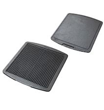 Grill & stekplatta vändbar 35,5x32,5 cm
