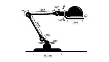 Loft D6440 Bordlampe 40+40x24,5 cm - Khaki Grå
