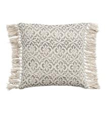 Tyynynpäällinen kukat 50x50 cm - Harmaa