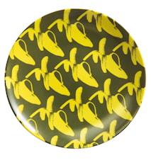 Go bananas! Yellow fellow tallrik