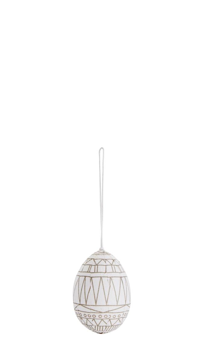 Roikkuva muna Ø 5 cm - Off white
